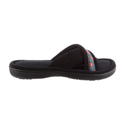 Isotoner Micro Terry X Slide Slip-On Slippers