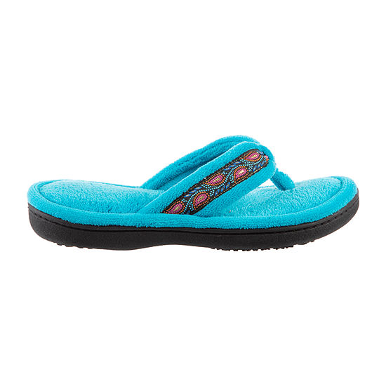 Isotoner Microterry Thong Womens Slip-On Slippers
