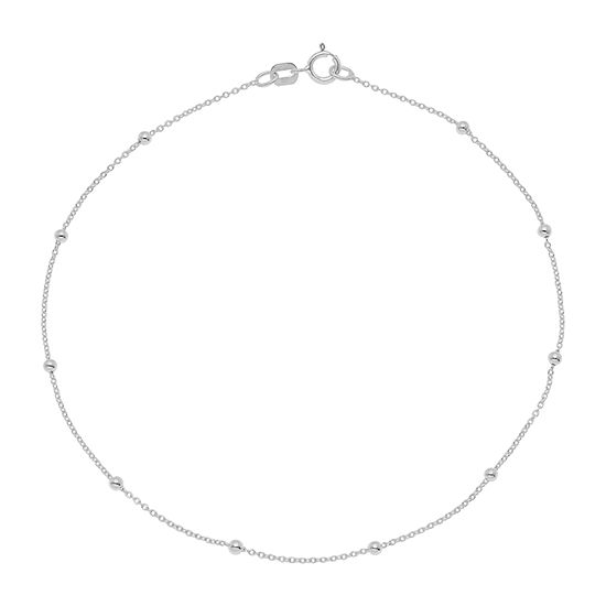 Itsy Bitsy Sterling Silver 9 Inch Cable Ankle Bracelet