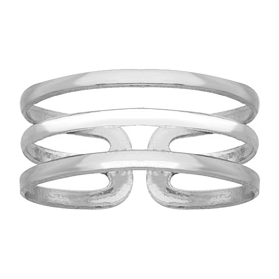 Itsy Bitsy Triple Line Toe Ring Sterling Silver Toe Ring