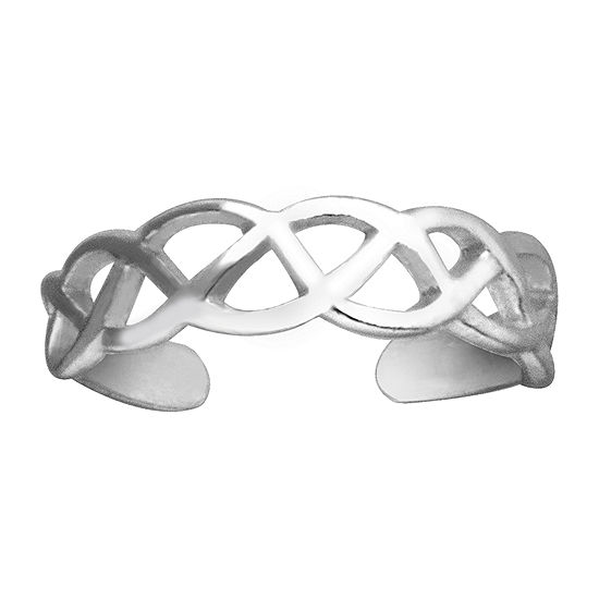 Itsy Bitsy Weave Toe Ring Sterling Silver Toe Ring