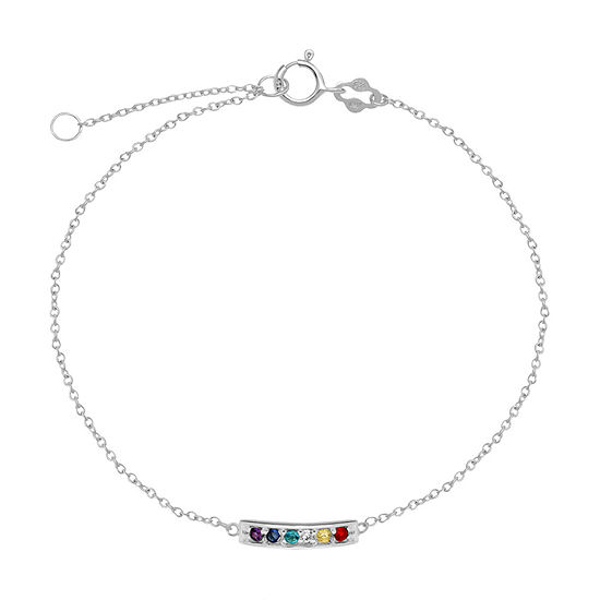 Itsy Bitsy Sterling Silver 9 Inch Semisolid Cable Ankle Bracelet