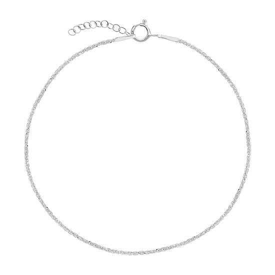Itsy Bitsy Chain Sterling Silver 9 Inch Cable Ankle Bracelet