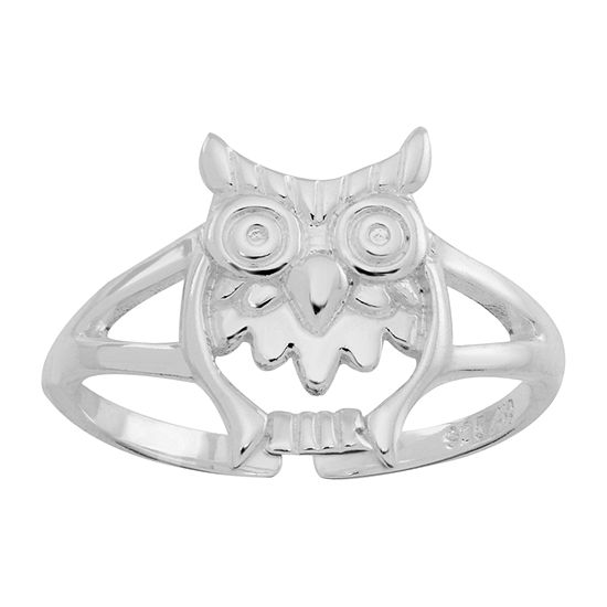 Itsy Bitsy Polished Owl Sterling Silver Toe Ring