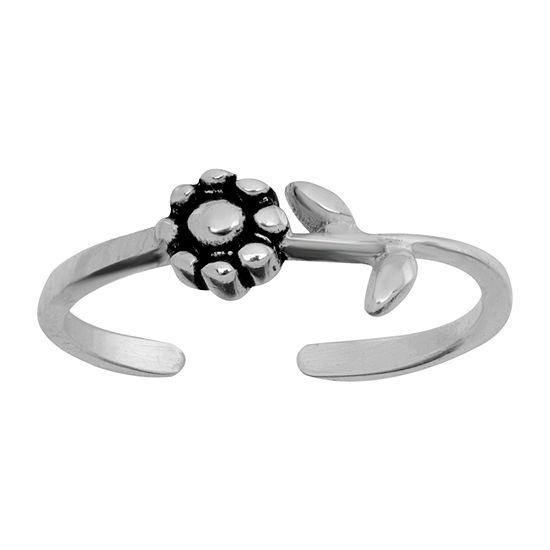 Itsy Bitsy Bali Flower Sterling Silver Toe Ring
