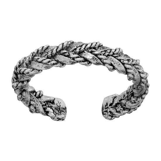 Itsy Bitsy Braided Weave Look Sterling Silver Toe Ring