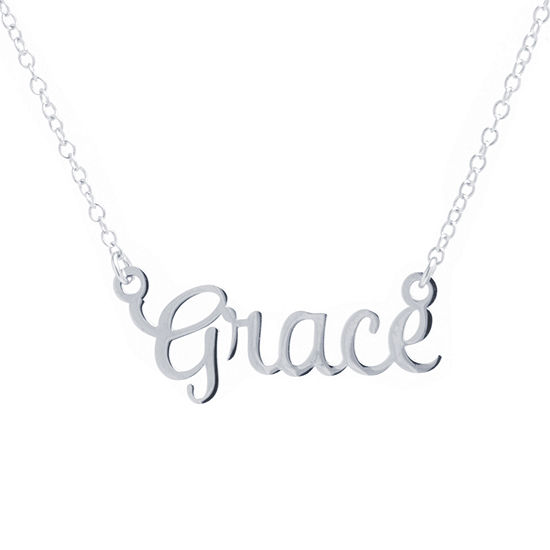 Silver Treasures Grace Womens Sterling Silver Pendant Necklace