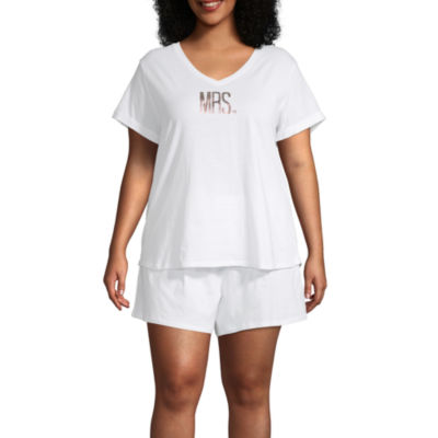 Ambrielle Short Sleeve Shorts Pajama Set 2-pc - Womens