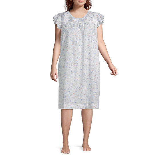 Adonna Womens Nightgown Ruffle Sleeve