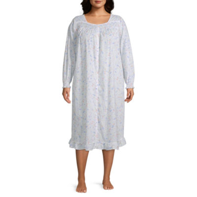 Adonna Womens-Plus Robe Long Sleeve Long Length