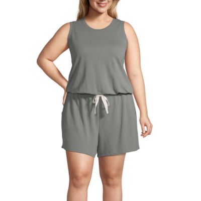 Ambrielle Sleeveless Romper-Plus