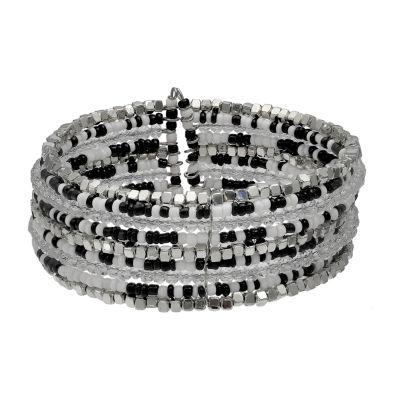 Mixit Womens Black Cuff Bracelet