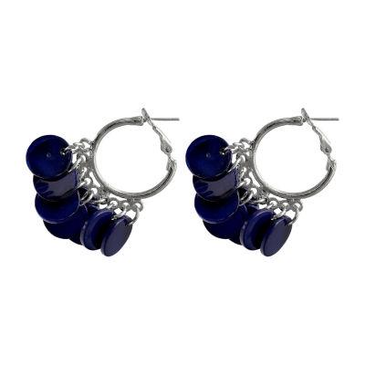 Mixit Blue Hoop Earrings