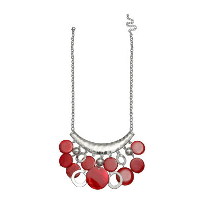 Mixit Womens Red Pendant Necklace
