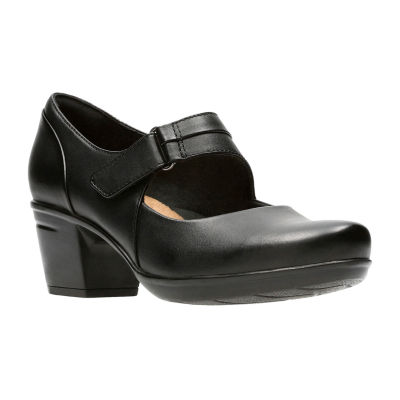 Clarks Womens Emslie Lulin Mary Jane Shoes Hook and Loop Closed Toe