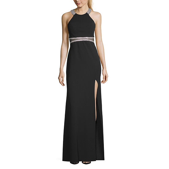 My Michelle Sleeveless Fitted Gown-Juniors