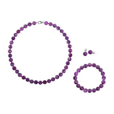 Genuine Purple Agate 3-pc. Jewelry Set