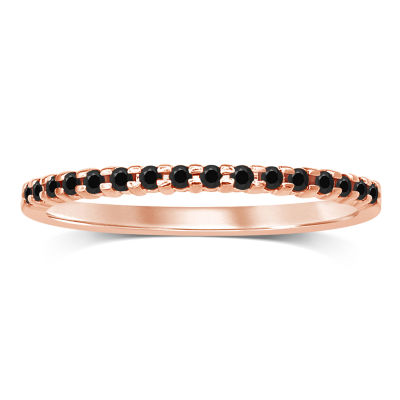 Womens 1/7 CT. T.W. Genuine Black Diamond 10K Gold Band