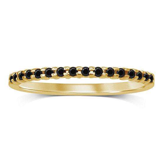 Womens 1/7 CT. T.W. Genuine Black Diamond 10K Gold Wedding Band