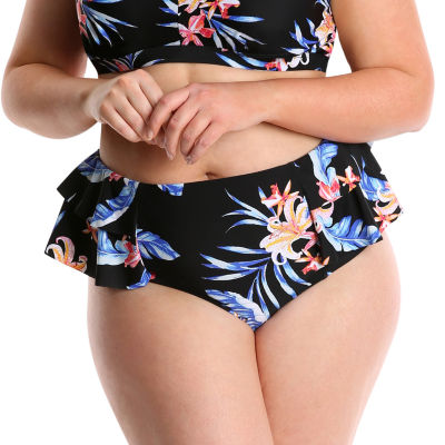 Lysa Floral High Waist Swimsuit Bottom-Plus