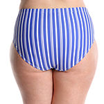 Lysa Striped Hipster Swimsuit Bottom Plus