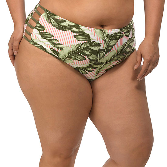 Lysa Leaf Hipster Swimsuit Bottom-Plus