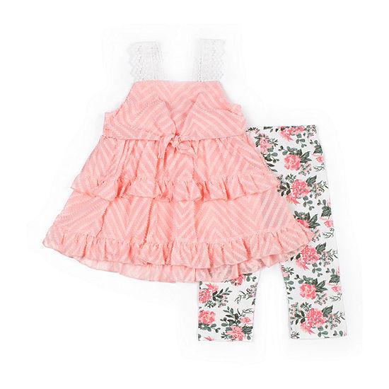 Little Lass 2 Pc Skirt Set Toddler Girls