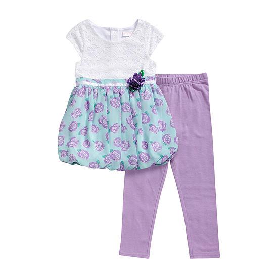 Young Land Girls 2-pc. Legging Set-Toddler