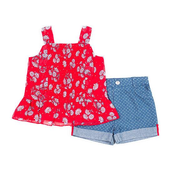 Little Lass Girls 2-pc. Short Set Toddler