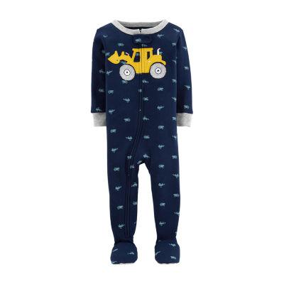 Carter's Long Sleeve Round Neck Knit One Piece Pajama - Boys