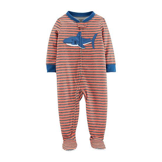 Carter's Boys Fleece One Piece Pajama Long Sleeve