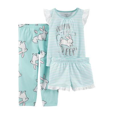 Carter's 3-pc. Pant Pajama Set Baby Girls