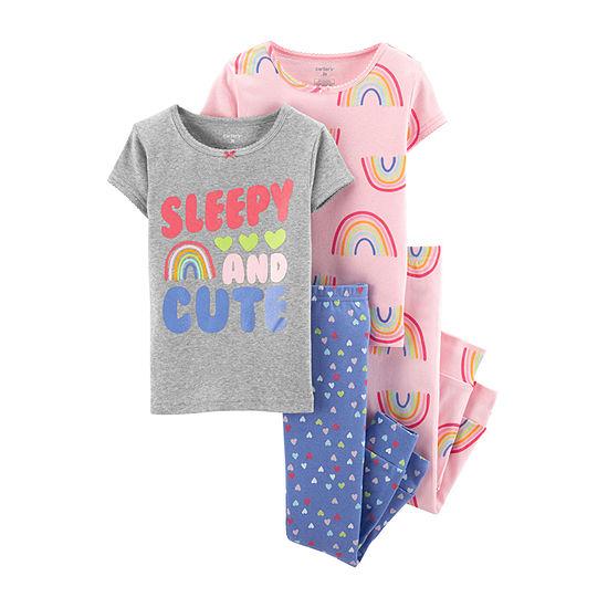 Carters 4 Pc Pant Pajama Set Baby Girls
