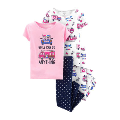 Carter's 4-pc. Pant Pajama Set Baby Girls