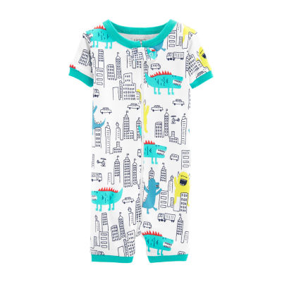 Carter's Boys Knit  Short Sleeve One Piece Pajama