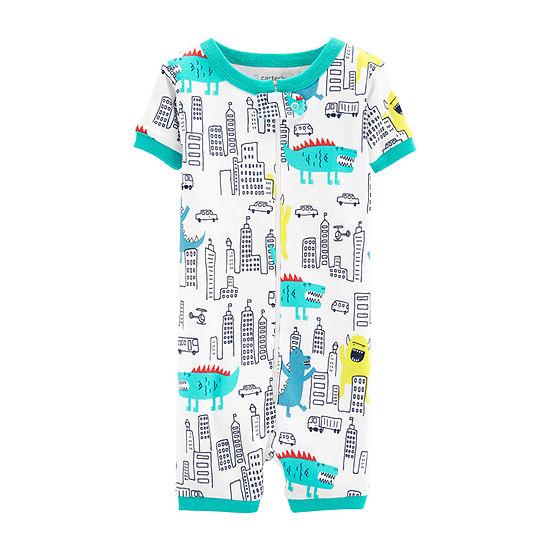 Carter's Boys Knit One Piece Pajama Short Sleeve