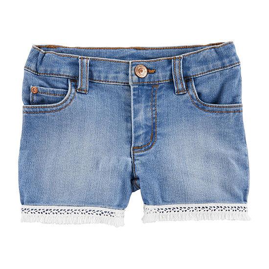 Carters Girls Denim Short Baby
