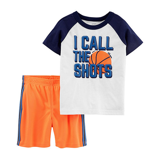 42699348c Brother   me-Carter s Short Sleeve Basketball Tee   Mesh Short Set -  JCPenney