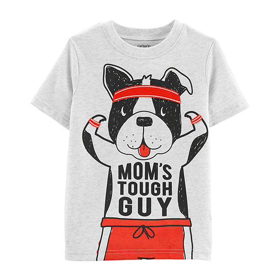 Carters Boys Round Neck Short Sleeve Graphic T Shirt Toddler
