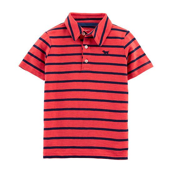 98657a0b Carter's Boys Collar Neck Short Sleeve Graphic T-Shirt-Toddler - JCPenney