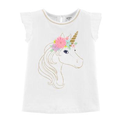 Carter's Round Neck Short Sleeve T-Shirt - Preschool / Big Kid Girls