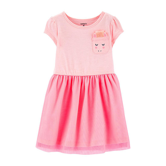 feb4cf95a Carter's Short Sleeve A-Line Dress - Toddler Girls - JCPenney