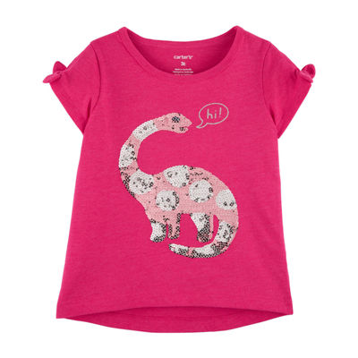 Carter's Girls Round Neck Short Sleeve T-Shirt-Toddler