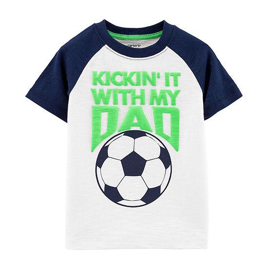 Carter's Carter'S Graphic T-Shirt - Toddler Boy Boys Round Neck Short Sleeve Graphic T-Shirt-Toddler