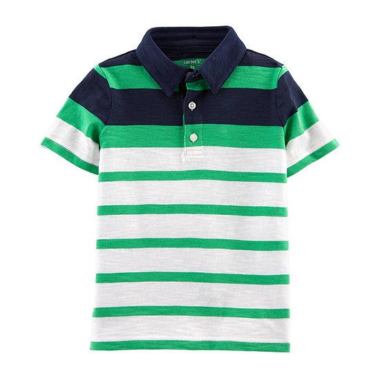 4b986a3a Carter's Boys Short Sleeve Polo Shirt - Toddler - JCPenney