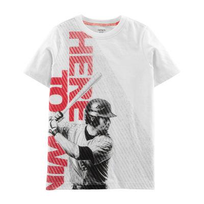 Carter's Boys Round Neck Short Sleeve Graphic T-Shirt Preschool / Big Kid