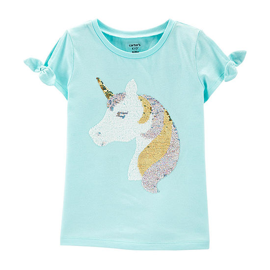 95b815bca Carter's Girls Round Neck Short Sleeve T-Shirt Preschool / Big Kid -  JCPenney