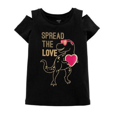 Carter's Girls Round Neck Short Sleeve T-Shirt Preschool / Big Kid