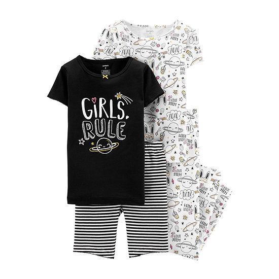 Carter s 4-pc. Pajama Set Preschool   Big Kid Girls - JCPenney 54e44fff3
