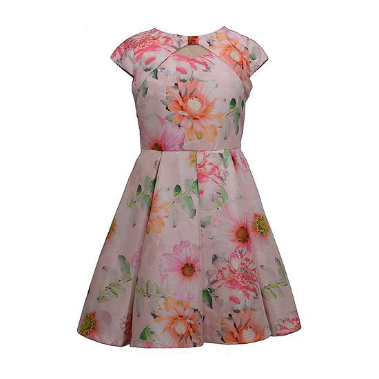 Bonnie Jean Girls Short Sleeve Party Dress